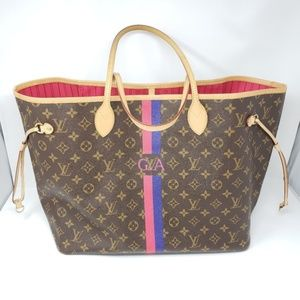 100% Auth Louis Vuitton Neverfull GM MON Tote Bag